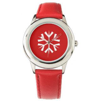 Montre/flocon de neige d'enfants de vacances montres bracelet