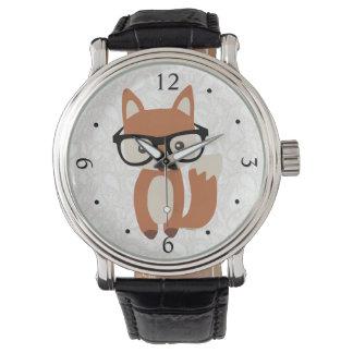 Montre Fox w/Glasses de bébé de hippie