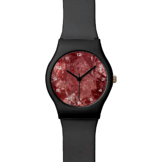 Montre grunge rouge du collage May28th