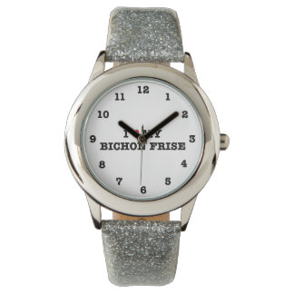 Montre I coeur mon Bichon Frise numéroté montre-bracelet