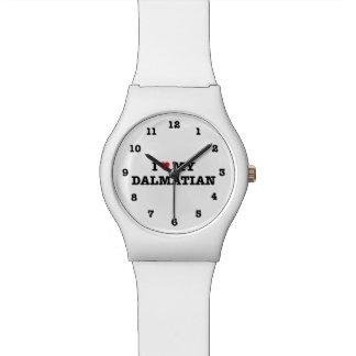 Montre I coeur mon Dalmate numéroté montre-bracelet du 28