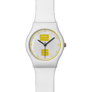 montre jaune contemporaine du blanc may28th