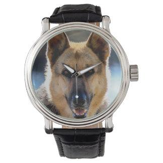 Montre La montre-bracelet de l'amoureux des chiens de