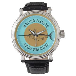 Montre La pêche marine détendent et apprécient