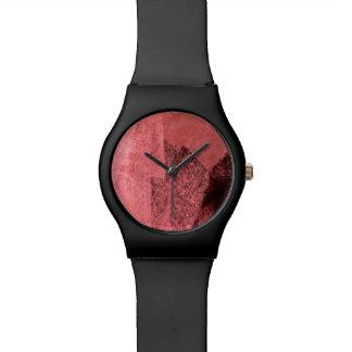 Montre L'amour noir rose rouge a inspiré l'art abstrait