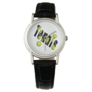 Montre Logo de tennis et boules jaunes,