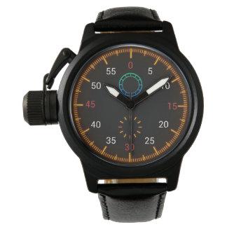 Montre Montre-bracelet colorée de tachymètre