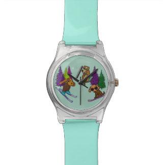 Montre Montre-bracelet de vacances de ski de chiot