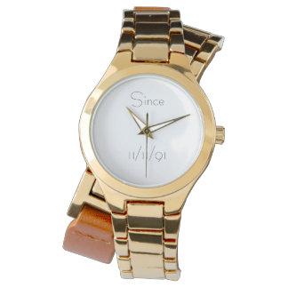 Montre Montre-bracelet élégante de date de sobriété