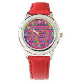 Montre Montre-bracelet multicolore de flamant
