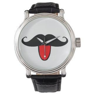 Montre Moustache drôle
