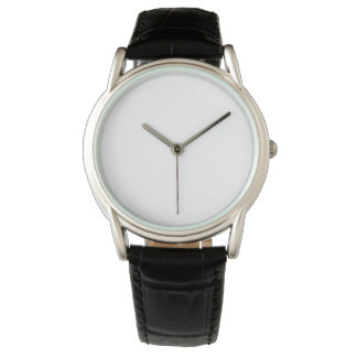 Montre noire classique du bracelet en cuir des montres cadran