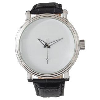 montre noire vintage du bracelet en cuir des