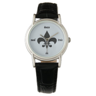 Montre numérale de Fleur De Lis French Louisiane