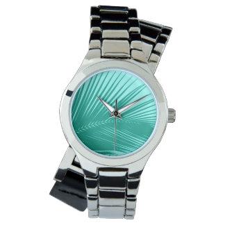 Montre Palmette - turquoise et aqua