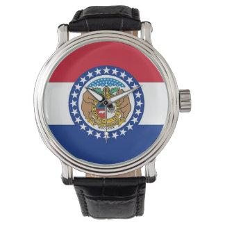 Montre patriotique avec le drapeau du Missouri