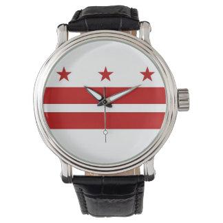 Montre patriotique avec le drapeau du Washington Montres