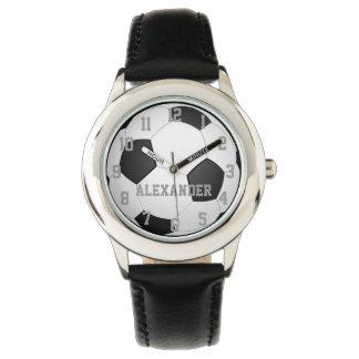 Montre personnalisée de ballon de football montres bracelet