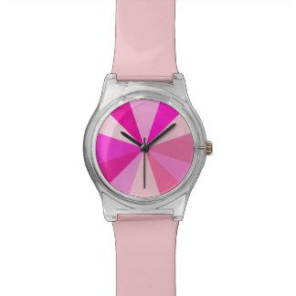 Montre Rayons 60s géométriques minimalistes roses