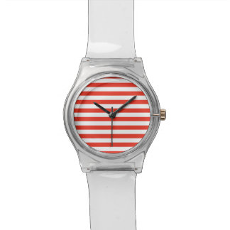 Montre Rayures rouges horizontales