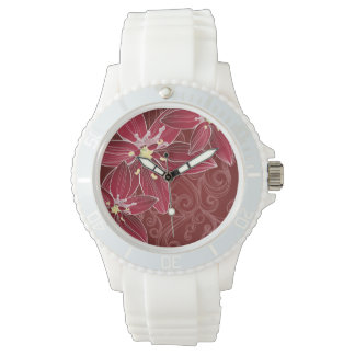 Montre Red Loving Flowers