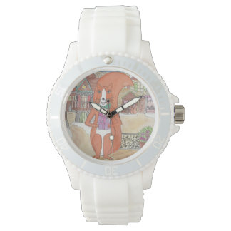Montre red squirrel gift watch designed by Onontia