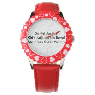 Montre réglable de l'encadrement de l'enfant de montres