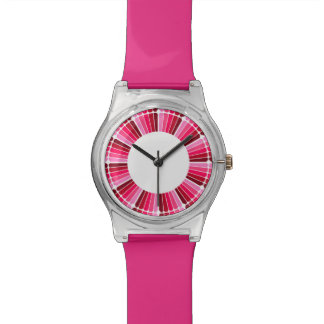 Montre rose rouge