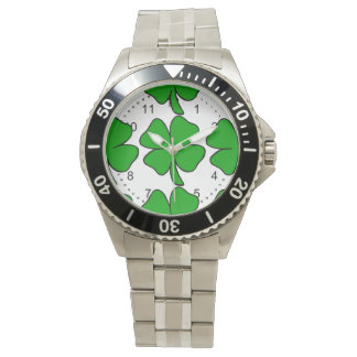 Montre Shamrock irlandais
