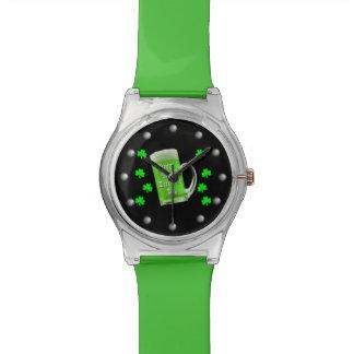 Montre Shamrocks et Jour de la Saint Patrick vert de