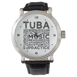Montre Typographie de tuba
