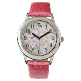 Montre Unicorn kids watch with fairytale de symbole