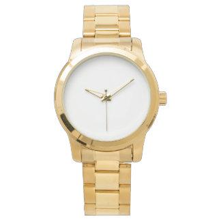 Montre unisexe surdimensionnée de bracelet d'or montres cadran