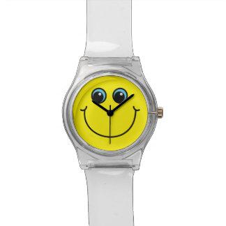 Montre Visage souriant jaune