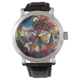 Montre Wassily Kandinsky - art abstrait de paysage urbain