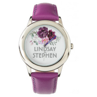 Montre watch cuir lindsay and stephen