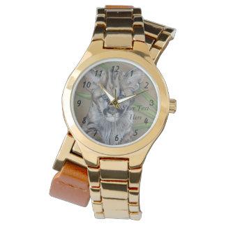 Montres Bracelet art mignon de réaliste de faune de grand chat de