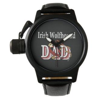 Montres Bracelet Cadeaux de papa de chien-loup irlandais