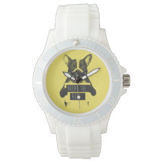 Montres Bracelet Chien rebelle (jaune)