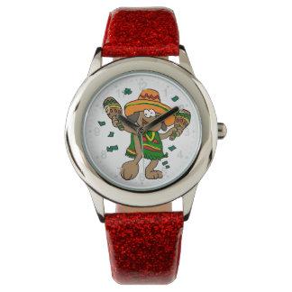 Montres Bracelet Chiens mexicains avec des maracas