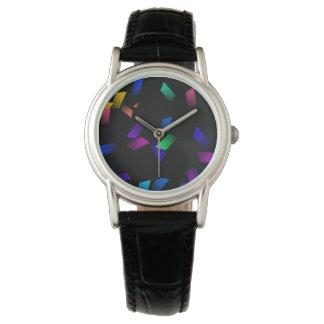 Montres Bracelet Confettis au néon colorés lumineux sur l'obscurité