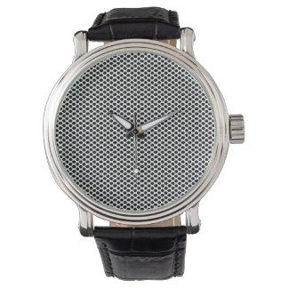 Montres Bracelet De pois minimal élégant de cool noir de blanc