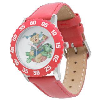 Montres Bracelet Encadrement de BANDE DESSINÉE d'OURS de TORTUE