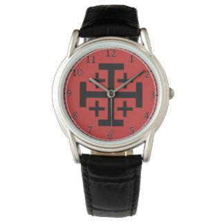 Montres Bracelet eWristwatch de coutume de croix de Jérusalem