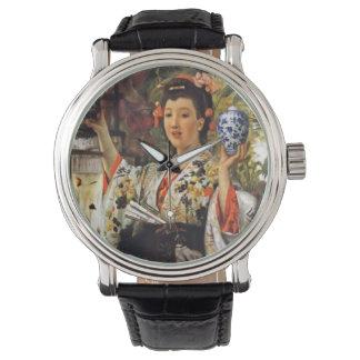Montres Bracelet Fille de geisha tenant le pot de gingembre