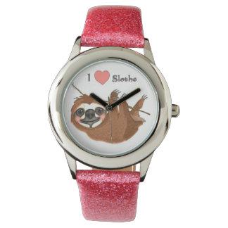 Montres Bracelet I animaux de bébé de paresses de coeur