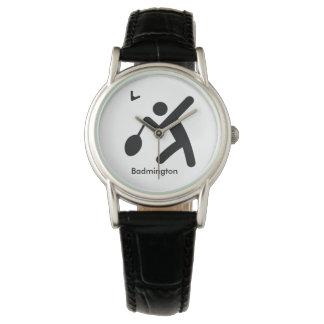 Montres Bracelet Icône fraîche de sport du BADMINTON  