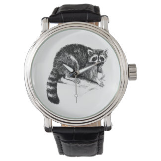 Montres Bracelet Illustration de raton laveur