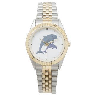 Montres Bracelet Illustration sautante de dauphins