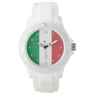 Montres-bracelet italiennes de drapeau pour les montres cadran